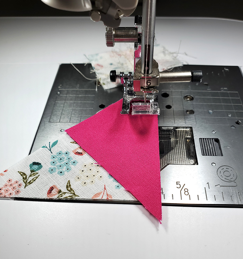 sew pieces Z and P