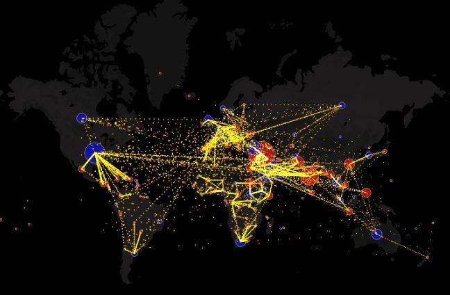 Mappa interattiva su Metrocosm