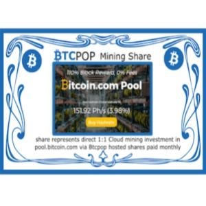 featured image for Btcpop.co 50 BTC launch Bitcoin.com mining IPO