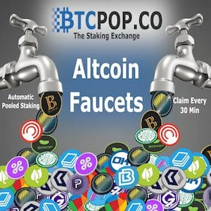Btcpop Altcoin Faucet | Claim every 30 minutes | Automatically Staked