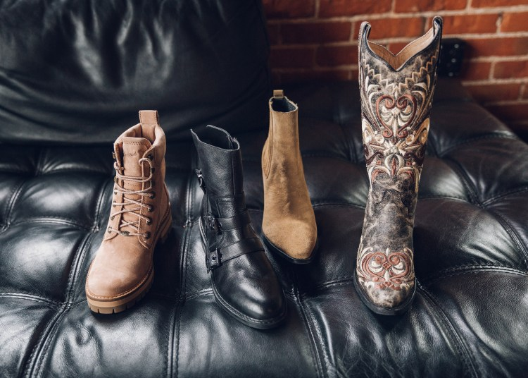Real leather boots from Buckle