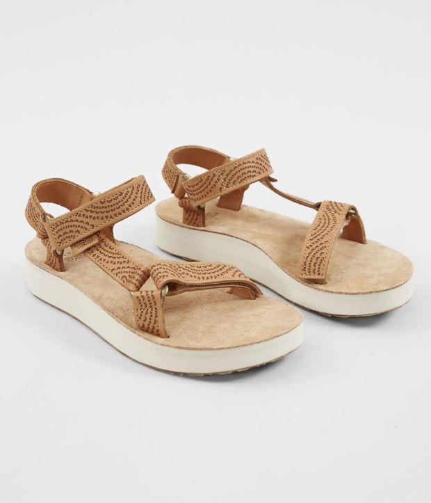 Women's Tan Teva Midform Universal Leather Athletic Sandal