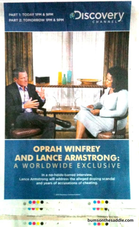 lance on oprah