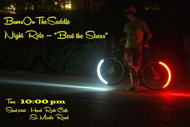 Urban bicycle night rides for Bangalore city