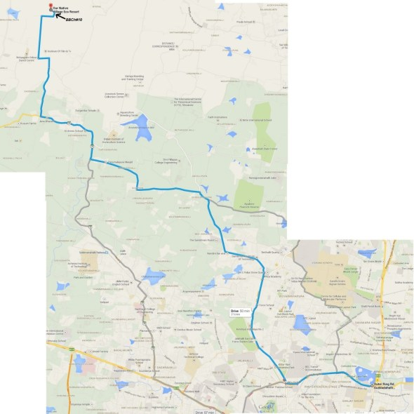 Bbch13 - detailed route map for the ultra cycling endurance race at heseerghatta