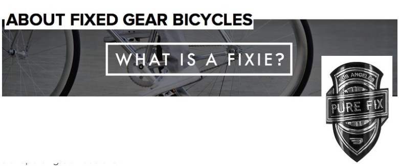 what is a fixie - bumsonthesaddle
