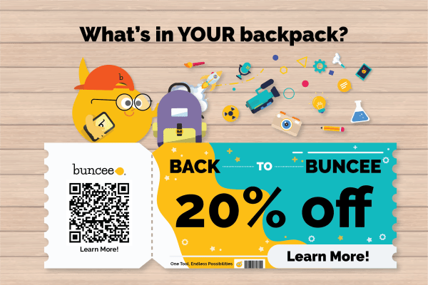 Back to Buncee 20% Off Header