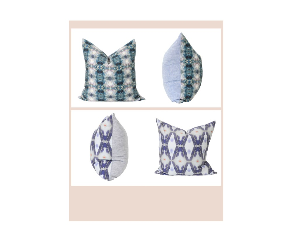 Bunglo: Midnight + Jade Tree 20x20 Pillows with Down Insert
