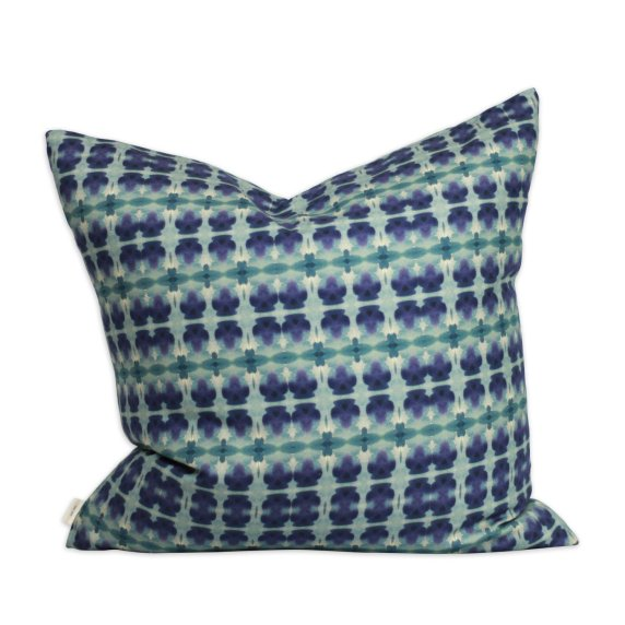 Turquoise Glamour Modern Pillow