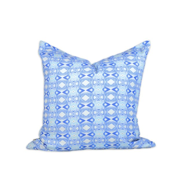 Tangier Blue Modern Pillow