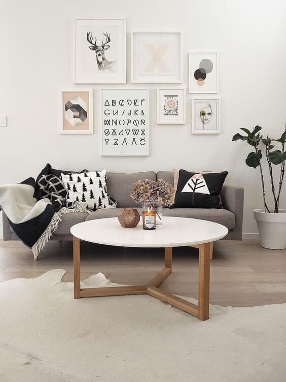 Nordic Rune Art and Blush Accents