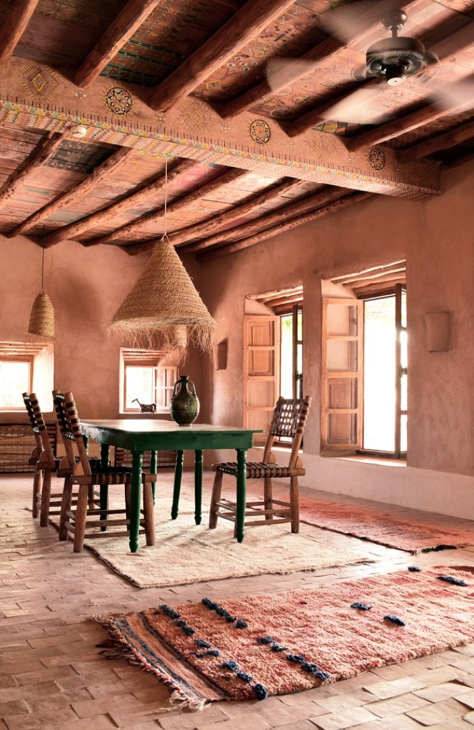 moroccan dining space