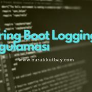 Spring Boot Logging Uygulama Örneği