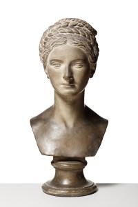 Bertel Thorvaldsen: Wilhelmine Benigna Biron, 1818, Afstøbning. Gips. 58 cm, Thorvaldsens Museum, Inv.-Nr.: A811