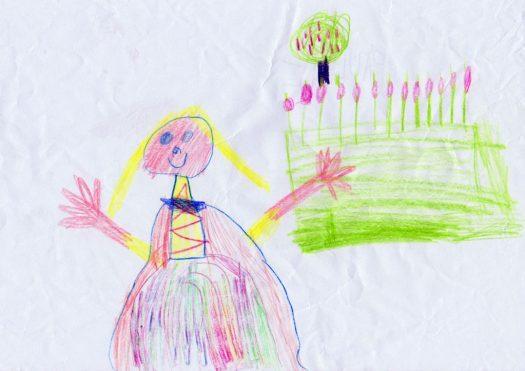 Durfte sich eine Prinzessin wie diese hier auch mal schmutzig machen? Das will Pauline (5 Jahre) wissen und hat gleich eine Prinzessin gezeichnet.