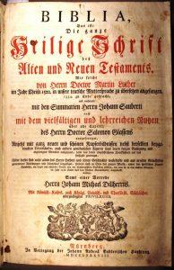 Dillherr-Bibel, Nürnberg 1788, Museum Burg Posterstein.
