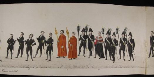Ausgestellt im Museum Burg Posterstein: Rollbild zum Festumzug zum Reformationsjubiläum 1830 in Leipzig