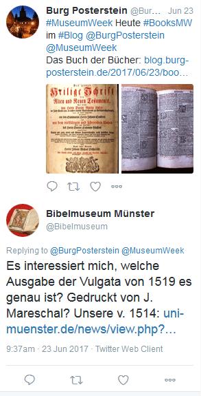 Aus einem Blogpost entstand ein Gespräch und ein produktiver Austausch mit dem Bibelmuseum der Universität Münster.