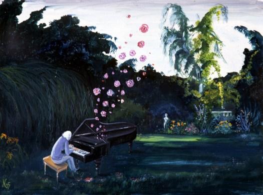 Musik in Neuperts Garten - Bild: Nr. 879: Luise bei der Gartenarbeit, 2005