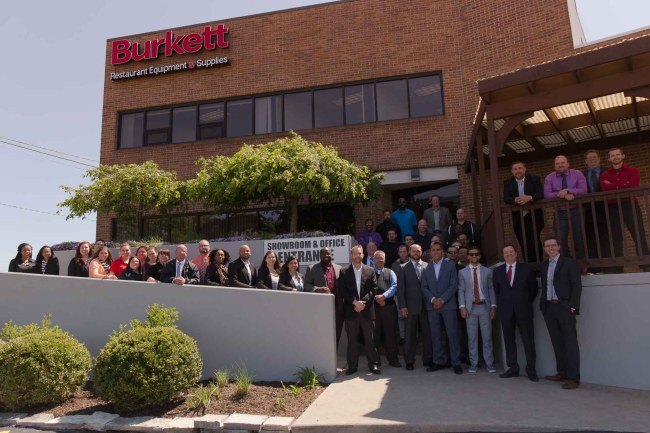 The Burkett team gathered at the grand opening of our brand new headquarters in Perrysburg, Ohio.