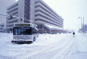 Blizzard Stops Bus