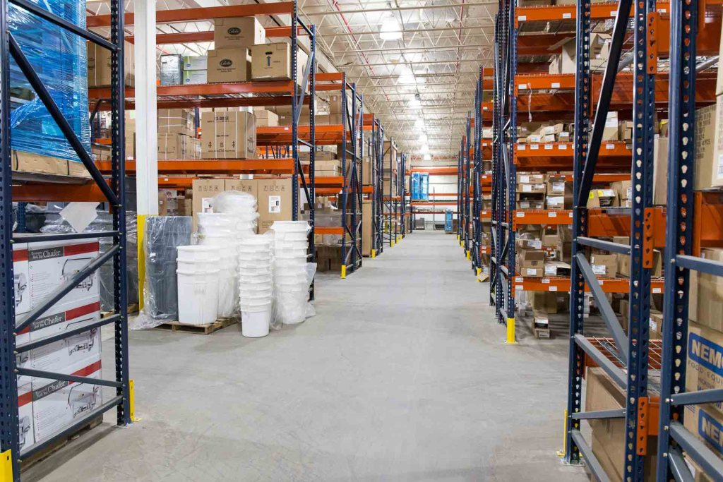 Warehouse with products