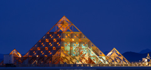 Burning Man Art Preview: Temple at Sunrise
