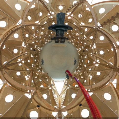 Burning Man Art Preview: Temple Interior, 360° panorama