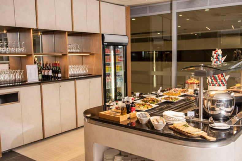 British Airways Johannesburg lounge buffet