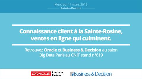 Connaissance clients à la Sainte-Rosine, ventes en ligne qui culminent !