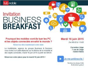 Business Breakfast Hub Mobile et Objets Connectés