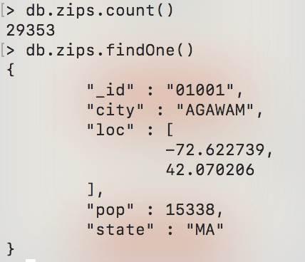 MongoDB : Agrégation - collection-zip