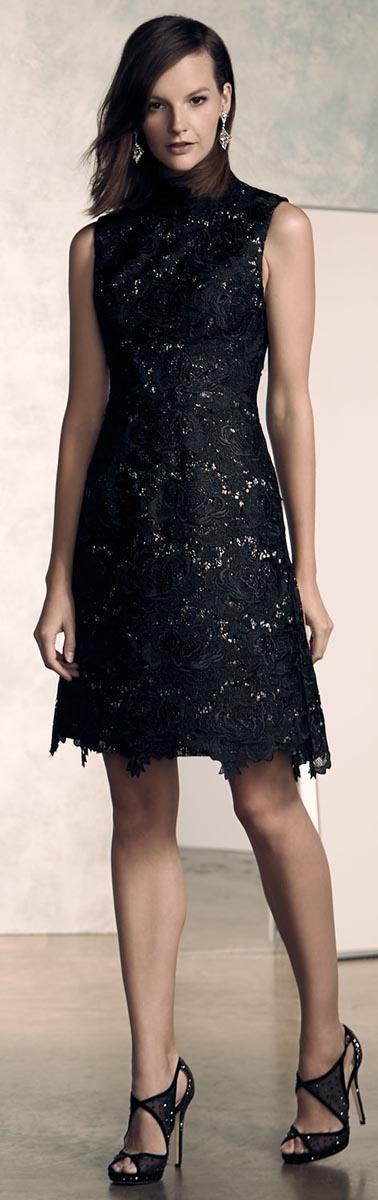 Monique LHuillier Fit & Flare Cocktail Dress