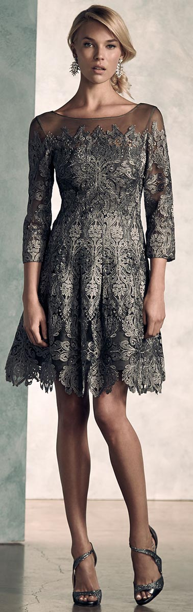 Kay Unger New York Lace Cocktail Dress