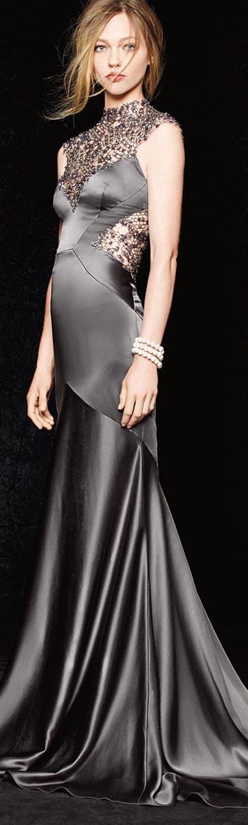 Monique Lhuillier Satin Gown