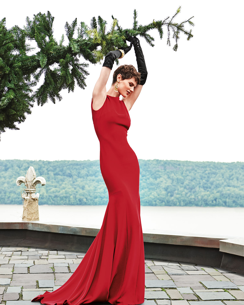Theia Evening Gown in Scarlett