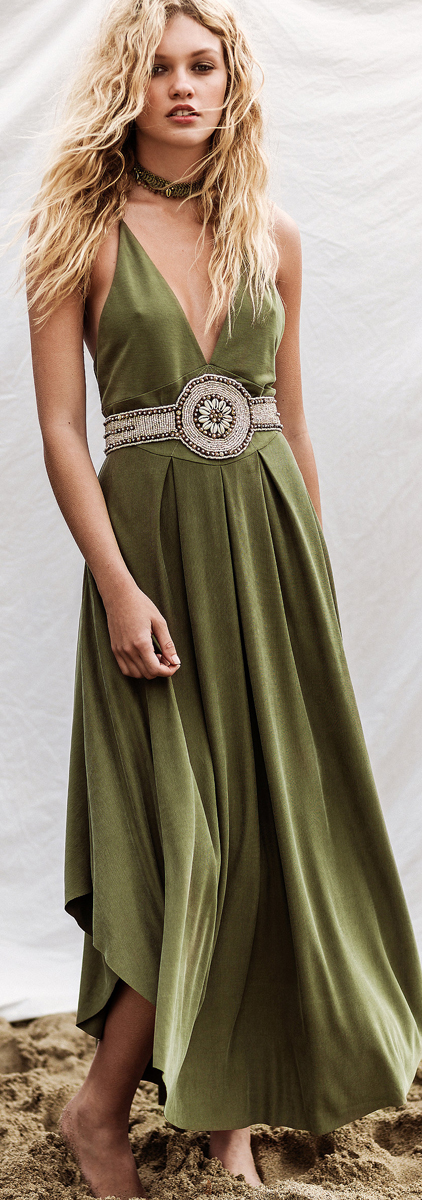 Free People What a Fine Day Maxi Dress