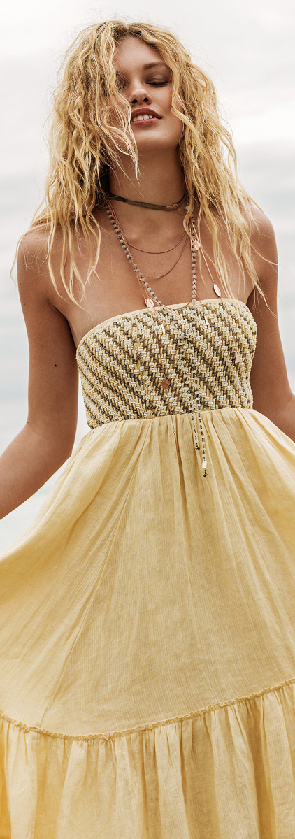 Free People Shimmers in The Sky Maxi Dress