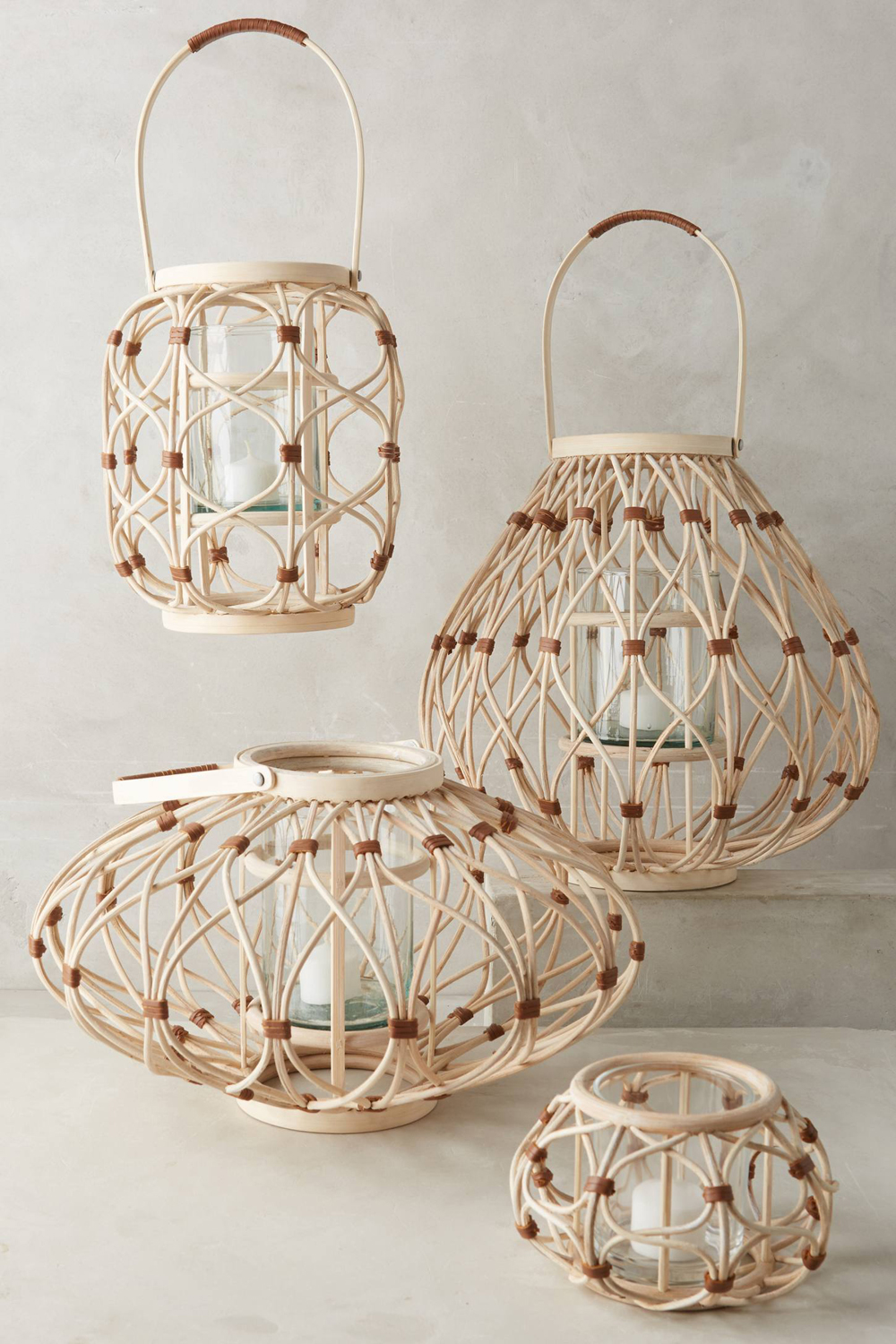 Leather Wrapped Lanterns