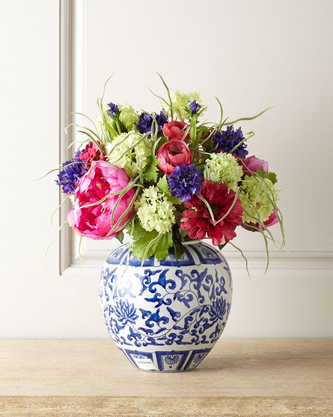 Faux Florals - Peony & Zinnia