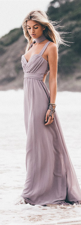 Olympia Slate Gown
