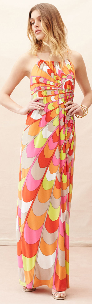 Trina Turk | Summer Dress | Sleeveless Printed Column Gown