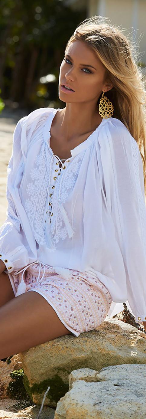 Melissa Obadash Alessandra Top in White