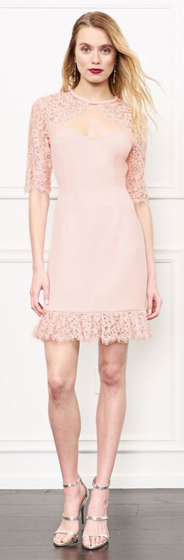 Rachel Zoe Claudia Lace Trim Mini Dress