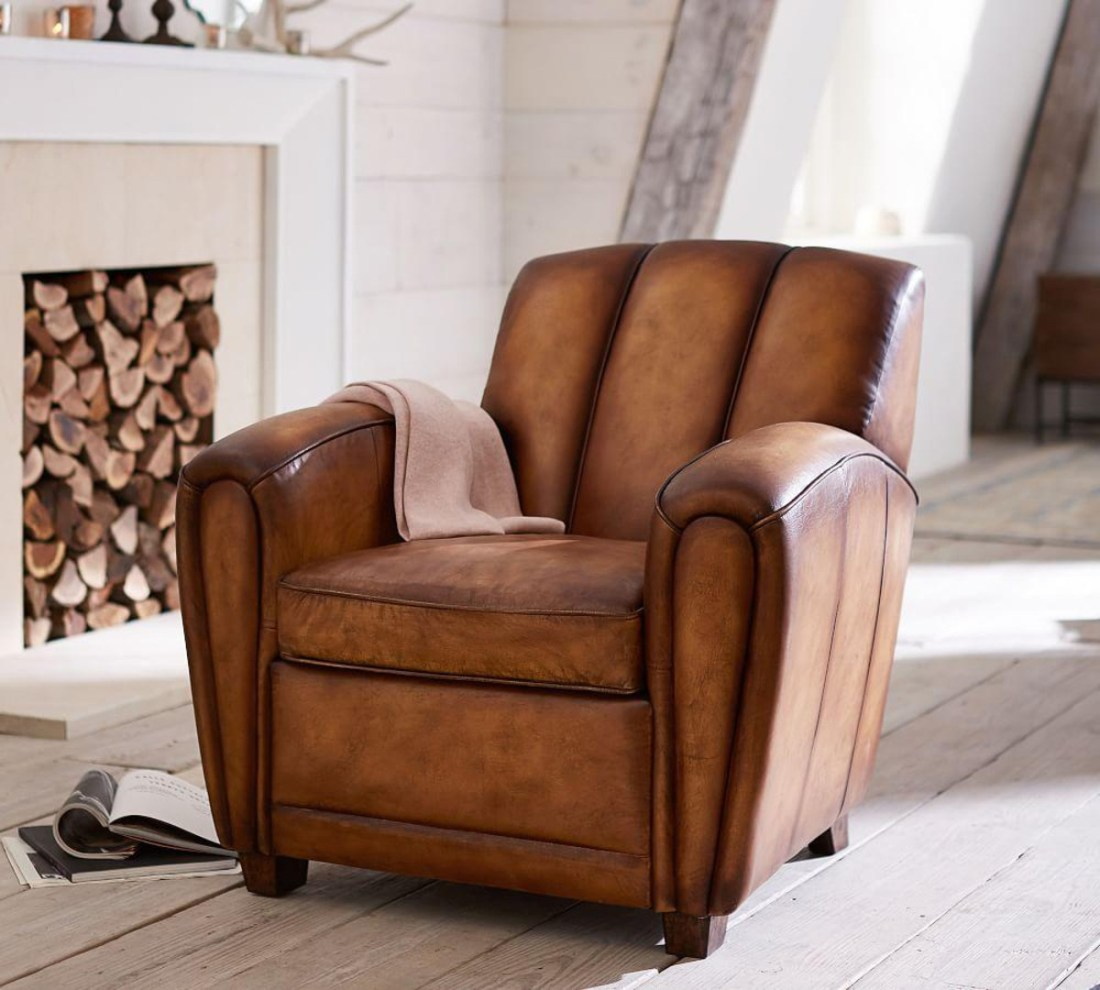 Rustic Leather Armchair