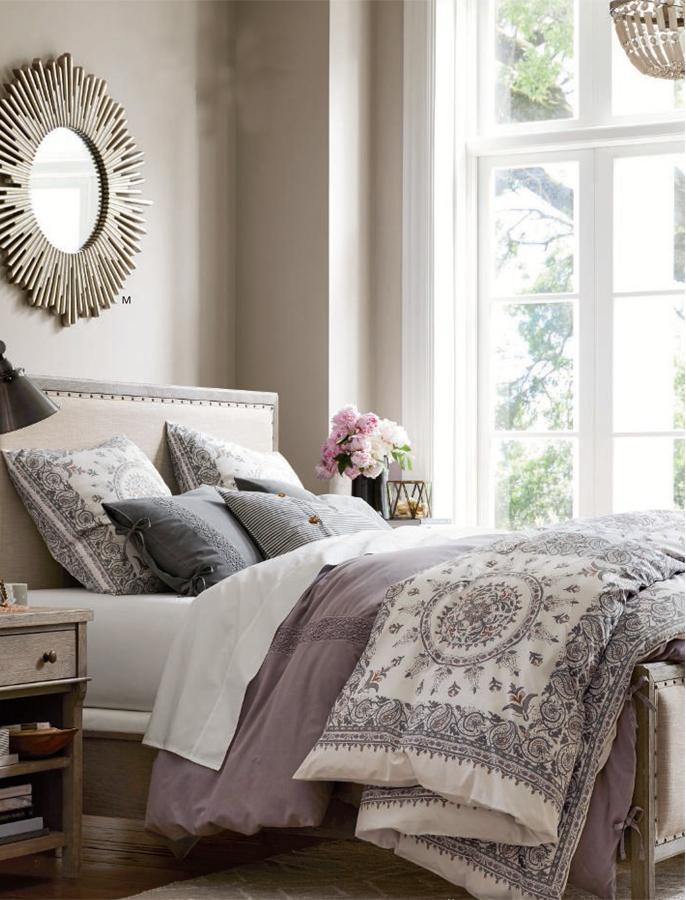 Mina Tile Print Organic Bedding