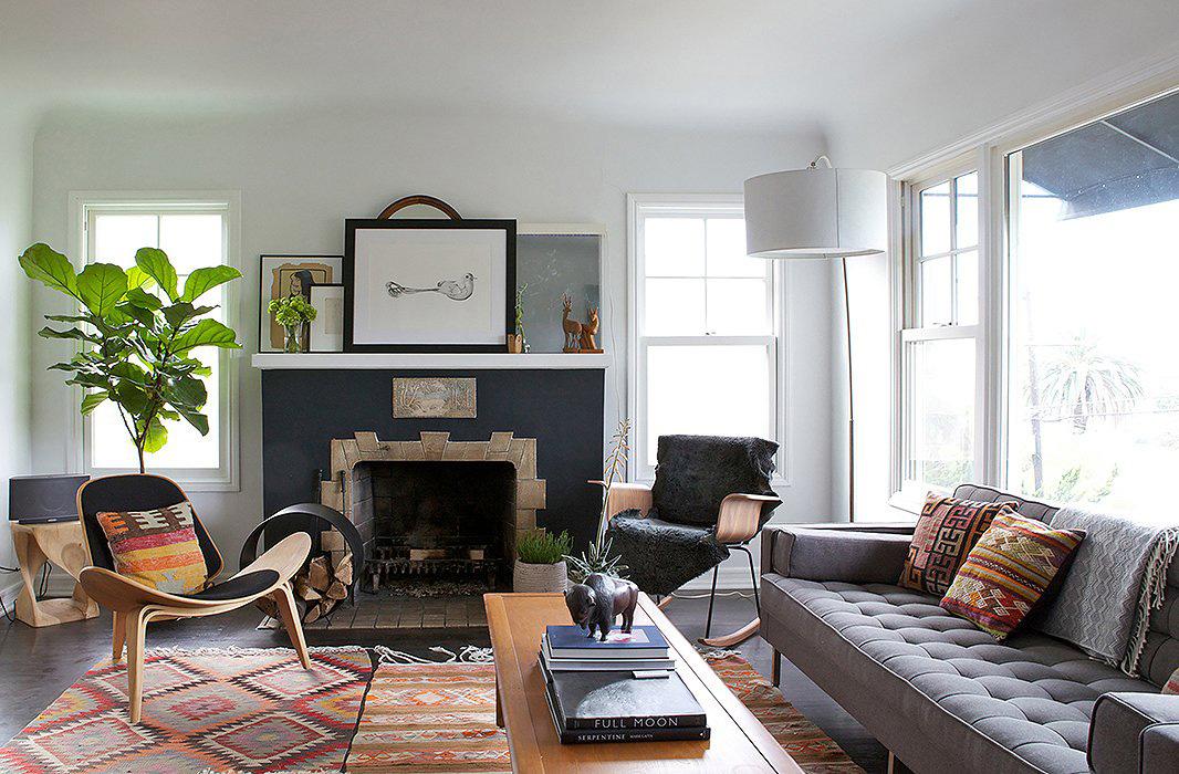 Bohemian Living Room   Amy Bartlam Photography