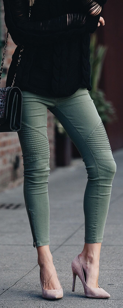 Olive Piper Jegging