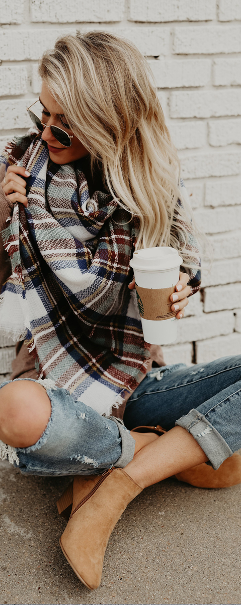 Ava Plaid Scarf