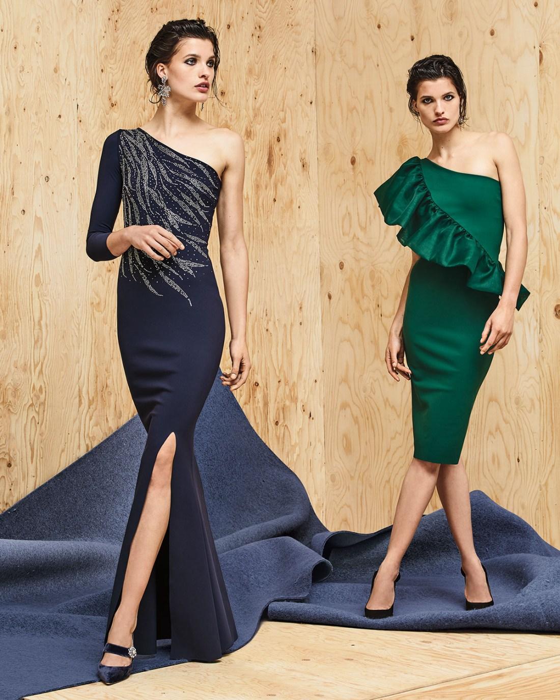 Chiara Boni La Petite Robe Siobhan Metallic One Shoulder Gown